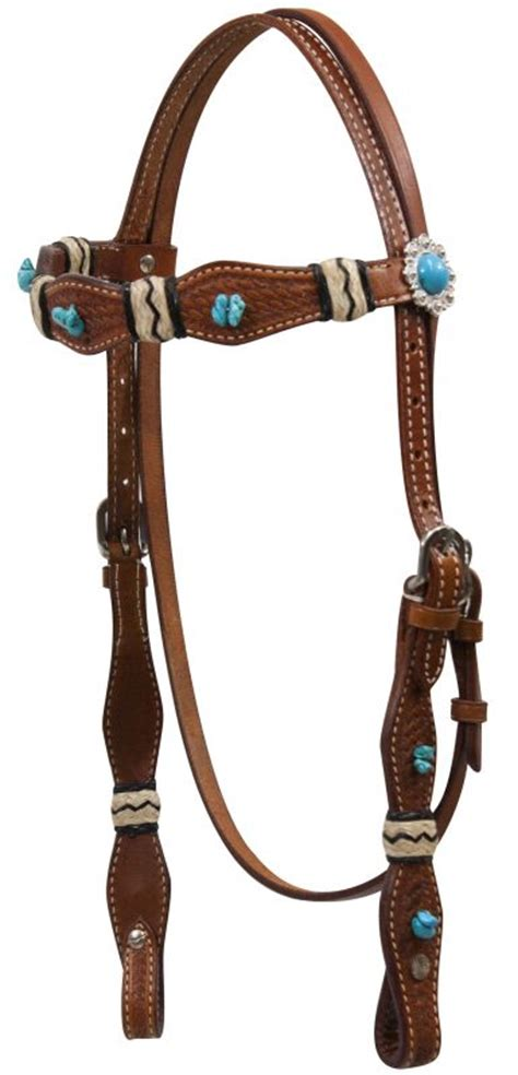 beaded headstalls showman 174 turquoise beaded headstall with rawhide