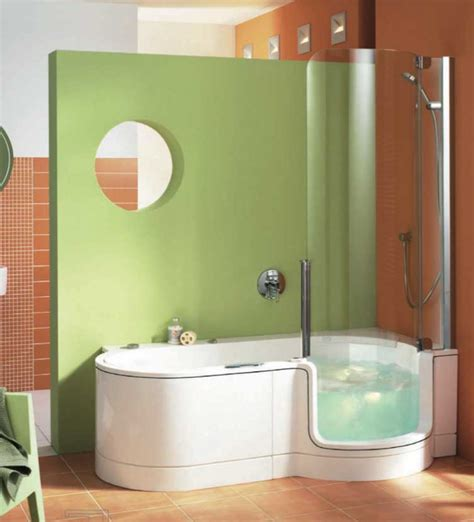 cool showers and baths walk in tub shower combo for small bathroom home