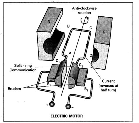 Electric Motor Class by Draw A Neat Diagram Of Electric Motor Name The Parts