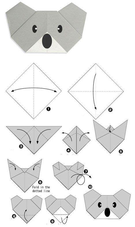 how to make a origami koala best 25 origami koala ideas on
