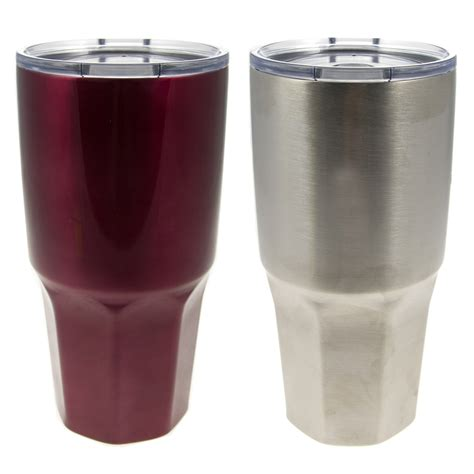 2 HiDR8 30oz Stainless Steel Hot Cold Insulated Travel Tumblers Coffee Mugs Cups   eBay