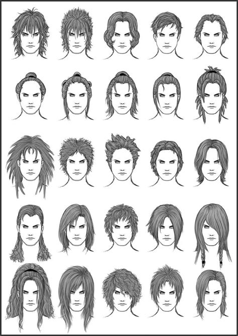 how to draw style s hair set 11 by sheikah on deviantart