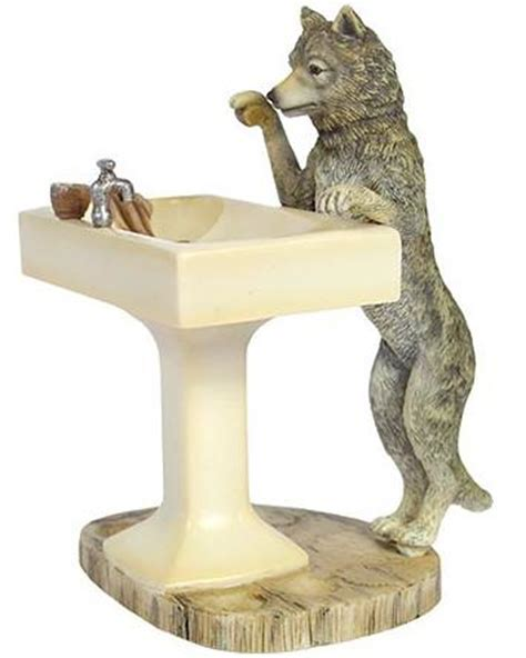 wildlife bathroom accessories steiff studio snorry howling wolf contemporary accessories