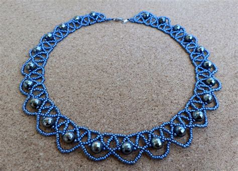 beaded necklace patterns free pattern for beaded necklace blue magic