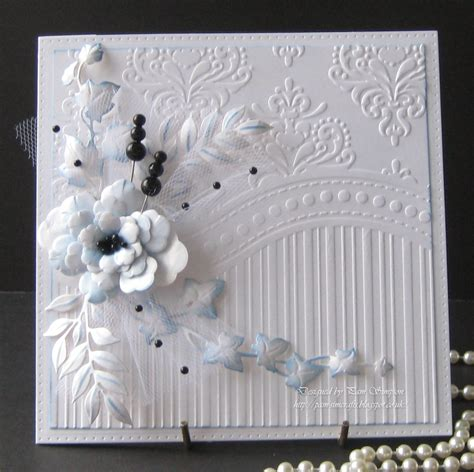 card embossing pamscrafts one embossing folder three cards