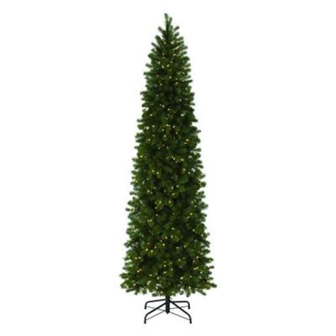 9 ft slim tree home depot martha stewart living 9 ft indoor pre lit led downswept