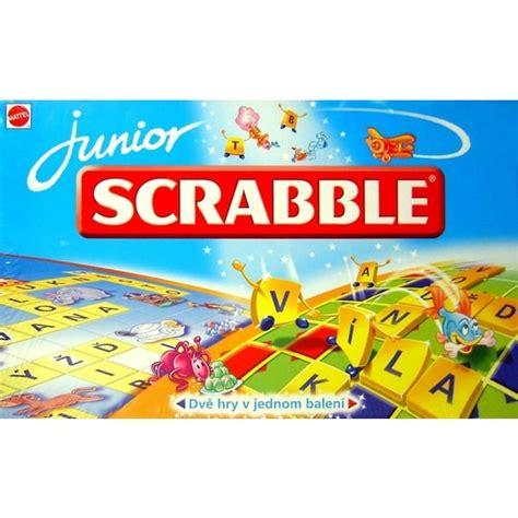 se scrabble scrabble junior mattel spoločensk 233 doskov 233 hry svet