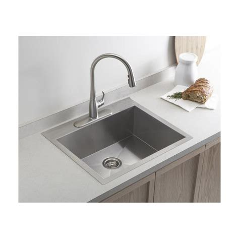 best stainless steel kitchen sinks reviews 19 inch top mount drop in stainless steel single bowl