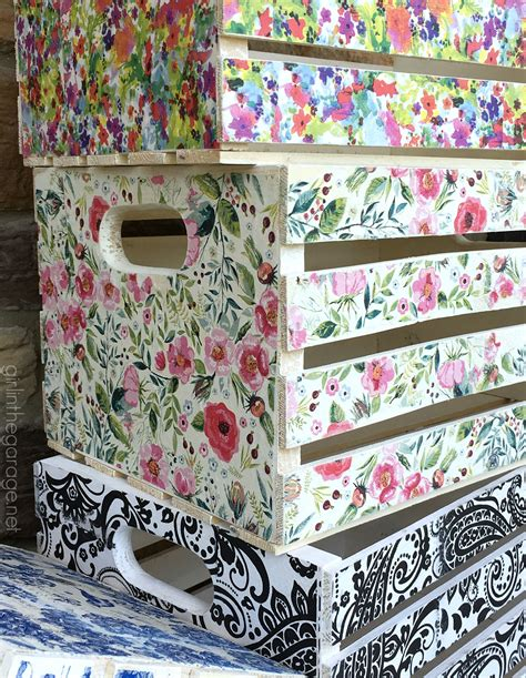 www decoupage decoupage crates framed cork boards and drawer shelves