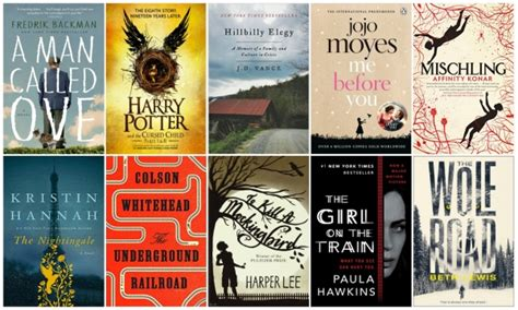 pictures of fiction books 50 best selling fiction books of 2016