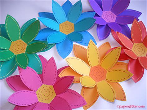 flower paper crafts paper glitter downloads printables paper crafts