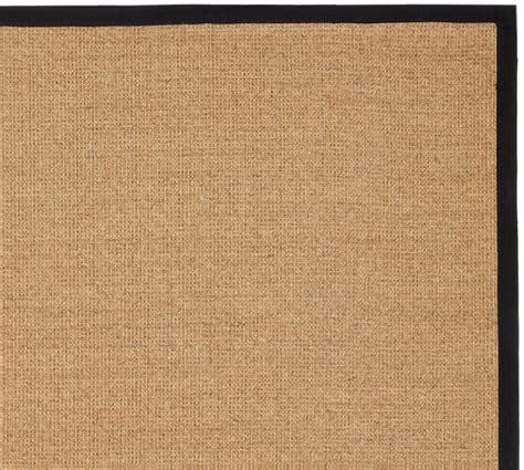 sisal rug color bound sisal rug black pottery barn