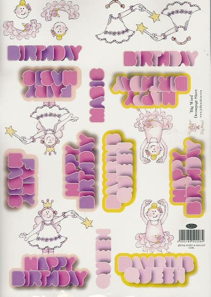 decoupage words foil play jolly nation big words decoupage ballet