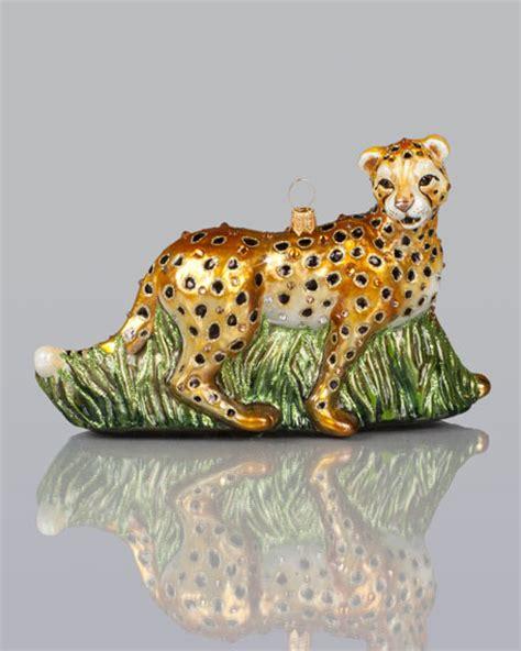 cheetah ornaments strongwater cheetah ornament