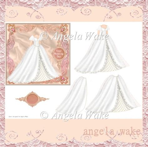 wedding decoupage sheets wedding dress decoupage sheet aw50