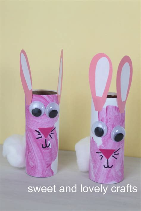 bunny toilet paper roll craft sweet and lovely crafts toilet paper roll bunnies