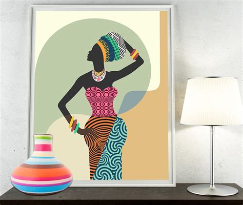 Afrocentric Home Decor african woman african wall art african wall decor black