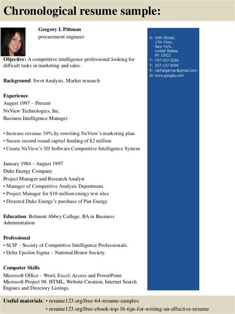 best skills to have on a resume top 8 procurement engineer resume samples