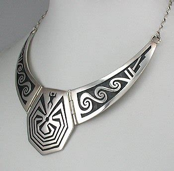 silversmith jewelry in a maze collar necklace american pawn hopi