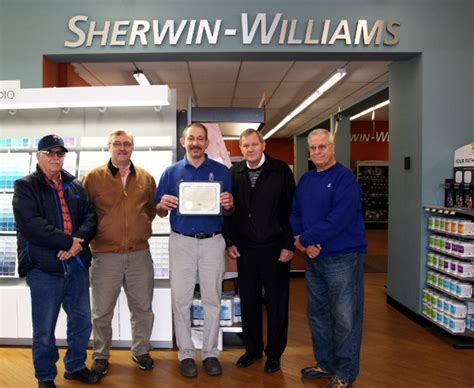 Sherwin Williams Paint Store Honored For Donation