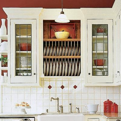 kitchen cabinet plate rack storage trim out open storage 28 thrifty ways to customize your