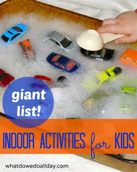 projects for toddlers list of indoor activities for