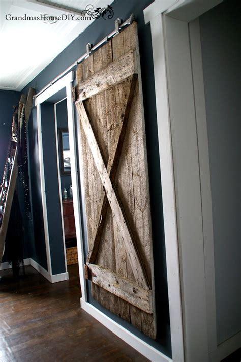 diy hanging door rustic hanging diy barn door diyideacenter