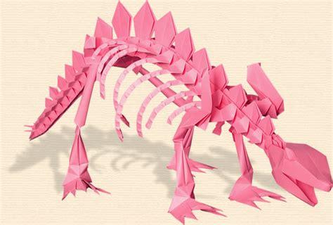 origami stegosaurus joost langeveld origami page