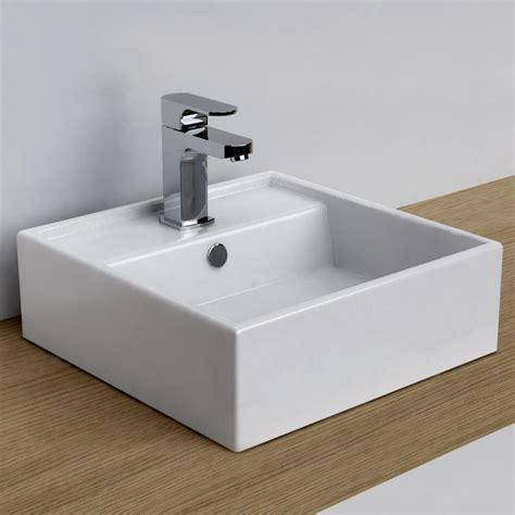 vasque 224 poser carr 233 e 38x38 cm plage de robinetterie c 233 ramique