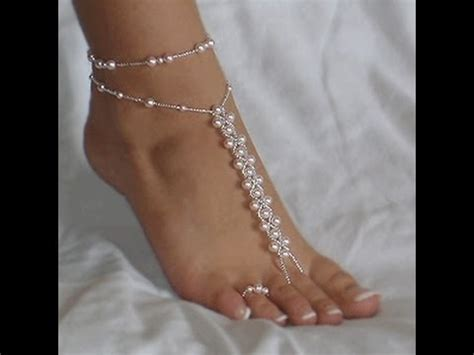 how to make beaded foot jewelry barefoot sandals