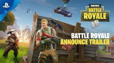 battle royal fortnite battle royale announce trailer ps4
