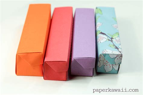 how to make a origami pencil origami pencil box tutorial paper kawaii