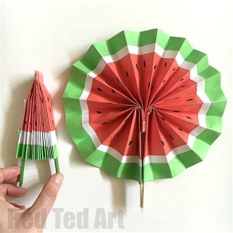 paper craft fan diy paper fans this melon fan version so