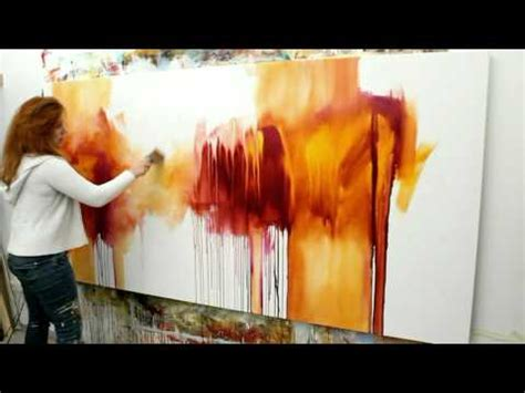 acrylic painting demonstration learn how to paint abstract painting with acrylics