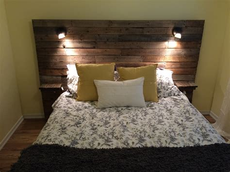diy headboards with shelves pallet headboard with shelf lights and plugs for cell