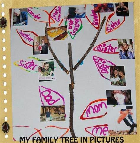 family craft for my family family tree stick crafts for preschool