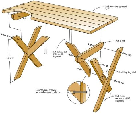 Picnic Table Plan The Out Of Doors