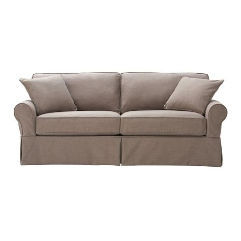 linen slipcovered sofa home decorators collection mayfair linen 1