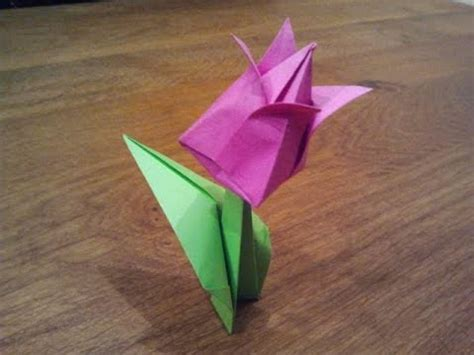 origami flower tulip how to make an origami tulip flower