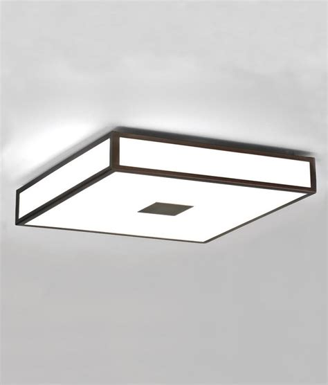 square bathroom ceiling lights opal glass square bathroom ceiling light in deco style