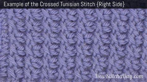 tunisian knit stitch how to tunisian crochet the crossed tunisian stitch