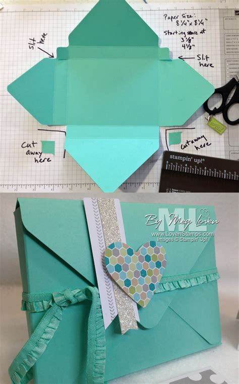 how to make envelopes for cards envelope punch board card box tutorial lovensts