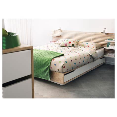 mandal headboard ikea mandal bed frame with storage birch white 140x202 cm ikea