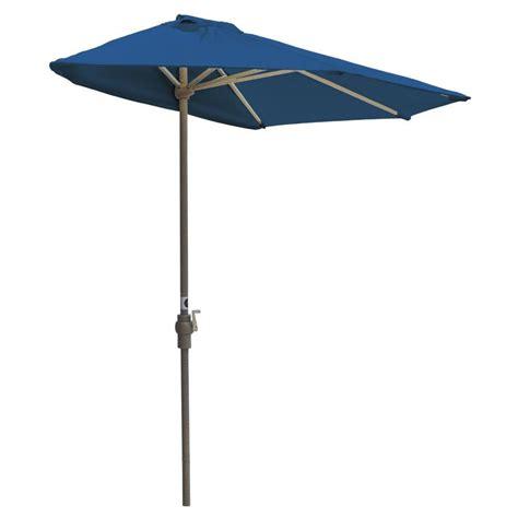 the wall patio umbrella hton bay statesville 9 ft steel crank and tilt