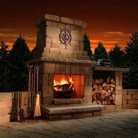 outdoor fireplace necessories colonial outdoor fireplace fireplaces