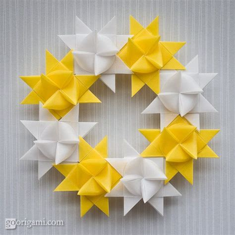 how to make a origami wreath origami wreath tilia boutique inspiration