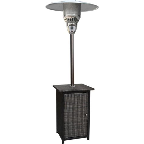 41000 btu patio heater hanover 7 ft 41 000 btu brown square wicker propane gas