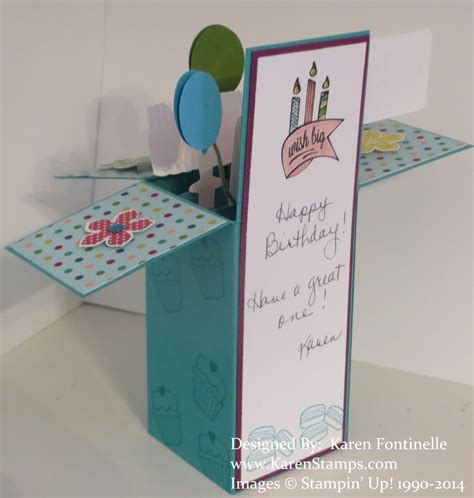 how to make a box from a card birthday pop up box card sting with