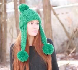 loom knit earflap hat pattern trifecta ear flap hat allfreeknitting