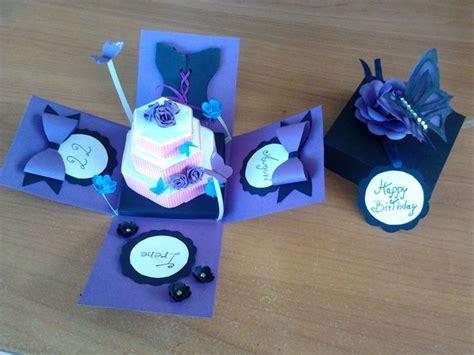 birthday paper crafts explosion box inside box birthday gift paper craft